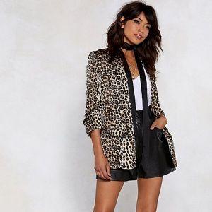 Nasty Gal Leopard Blazer